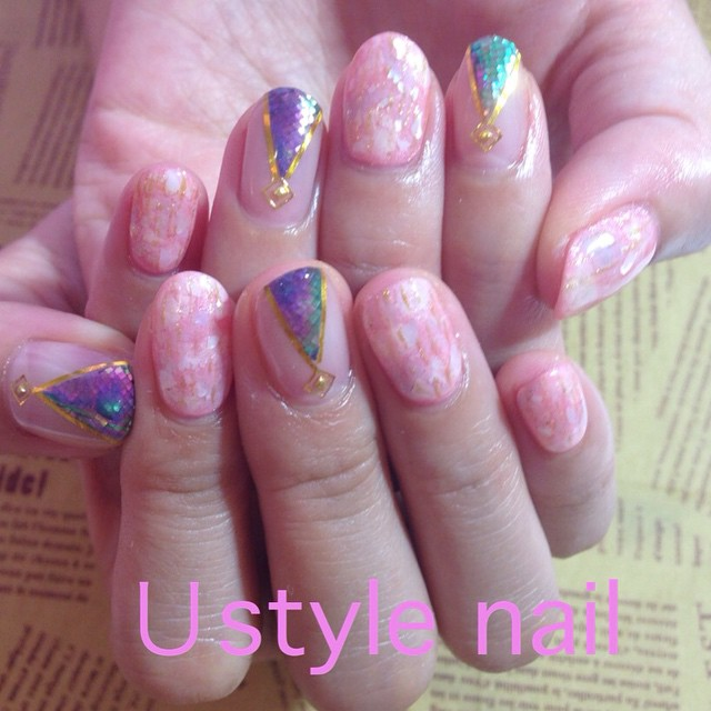 nail#新宿店#nailart#ネイル summer#naildesign#gel#gelnail#スカルプ#new#japan#Japanese design#nailloves